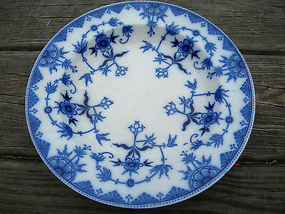 Antique Flow Blue Burgess and Leigh England Haarlem Soup Bowl Plate