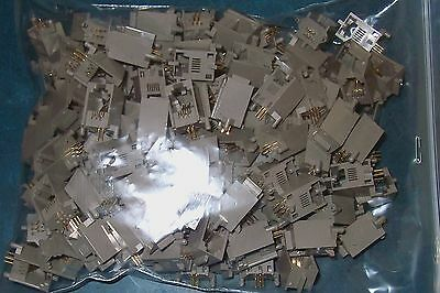 Over 110Pc 6Pos/4Contact Right Angle Pc Mount Modular Female Connector Lot Rj14