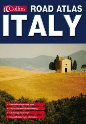 Collins Road Atlas Italy Paperback Book The Cheap Fast Free Post