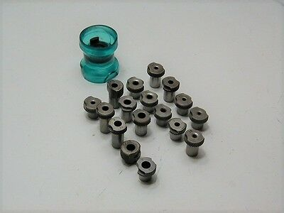 Magnavon Egg Cup Drill Stand Off & (17) Slip Fit Drill Bushing Tools