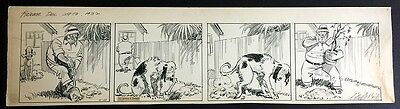 """Clifford McBride Orig Drawing """"Napoleon & Uncle Erby"""" Daily Comic Strip 1932"""