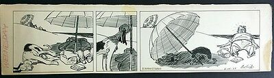 """Clifford McBride Orig Drawing """"Napoleon & Uncle Erby"""" Daily Comic Strip 1939"""