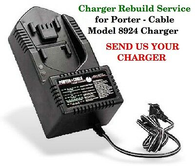 Rebuild Service For Porter Cable Nicd Battery Charger Model 8924