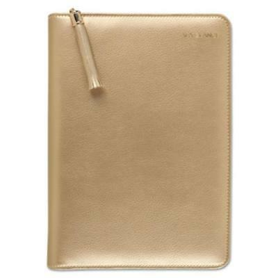 At-A-Glance 6079400131 Pebble Ringed Weekly/monthly Planner, 4 7/8 X 8, Gold,