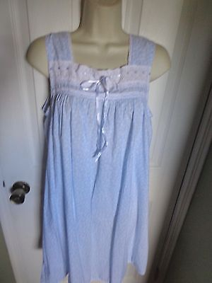 sweet  nightgown  by charter club NEW cotton  , eyelet & ribbon trims
