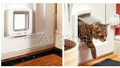 White GENUINE Sureflap 32 Microchip ID Large Catflap Big Cat Small Dog Pet