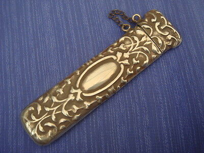 Solid Sterling Silver Hallmarked Tooth Pick Holder Or Snuff Holder Needle Case