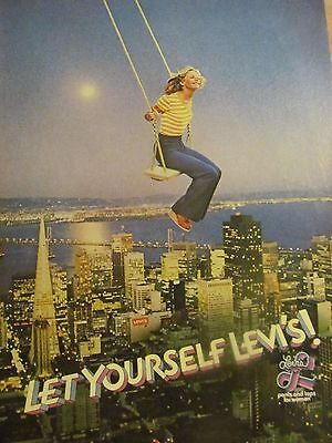 Levi's Women Jeans, Full Page Vintage Print Ad, 1977