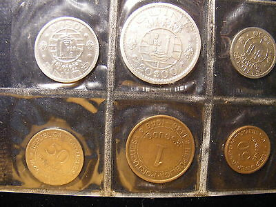 Portuguese Guine - 6 Different Coins with a silver 20 Escudo - 65 Years old