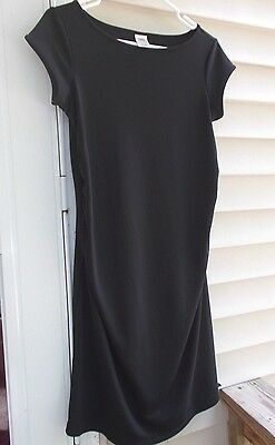 OLD NAVY Maternity Women's Size Small Black Dress Ruched Sides Worn Once