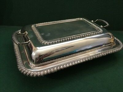 Vintage Silver Plated EPNS Lidded Entree Vegetable Serving Dish Made In England
