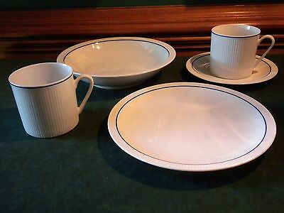 Prisma Vienna Blue Line Porcelain Lot Of Assorted Dishes