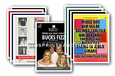 BUCKS FIZZ  - 10 promotional posters - collectable postcard set # 2