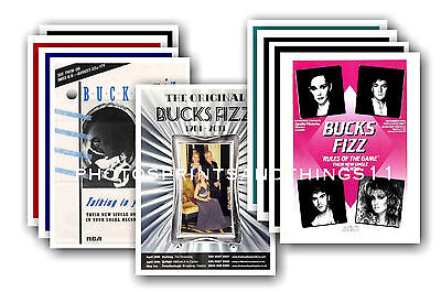 BUCKS FIZZ  - 10 promotional posters - collectable postcard set # 3