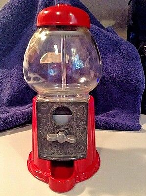 Red Carousel Tabletop Gumball Machine Candy Dispenser