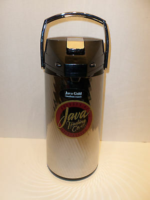 Java Trading Co Commercial Airpot Vacuum Glass Coffee Tea Beverage Dispenser 2.2