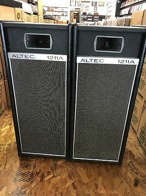 ALTEC MODEL 1211A Pair PA SPEAKERS Loudspeakers Crossover Working Vintage