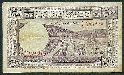 "Jordan 1949(N/d) 500 Fils Banknote ""scarce"" #2681 Low Price & Free Usa Ship"