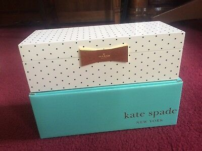 Lenox Jewelry Box by Kate Spade (White with Black Polka Dots) - NEW