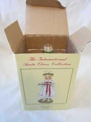 International SANTA CLAUS collection SAINT LUCIA SWEDEN Christmas Holiday statue
