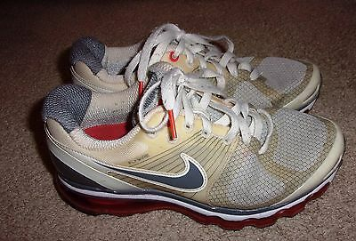 Nike Air Max '10 Flywire Women's Size 7 Running Shoes Red White Cream 386374-105