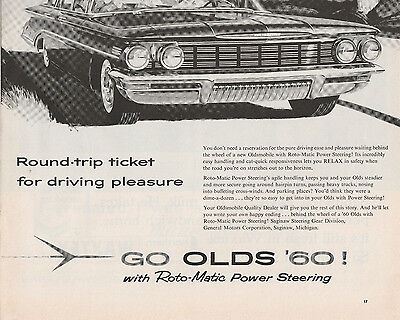 ad from LIFE magazine dated May 16, 1960  -  Oldsmobile - with Roto-Matic