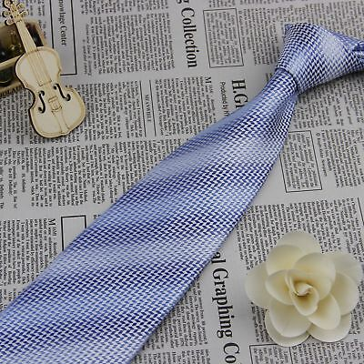 Tie Necktie Men's Light Blue Wedding Formal Party 100% Silk Jacquard Woven BP230