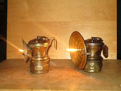 2 Miners AUTO-LITE CARBIDE LAMPS-WORKING!!