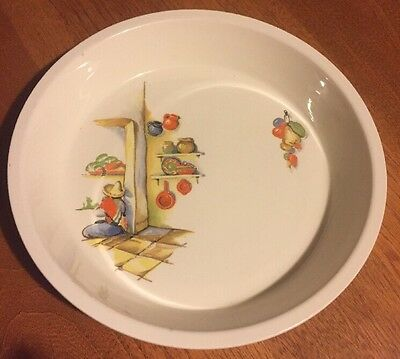 Knowles Utility Ware Made in USA Rare Mexican Design Pie Dish