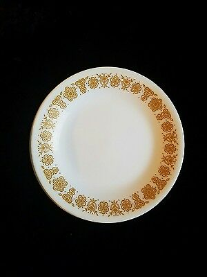 """Set of 2 Butterfly Gold Corelle 6 1/2"""" Dessert  Plates Corning Made in USA"""