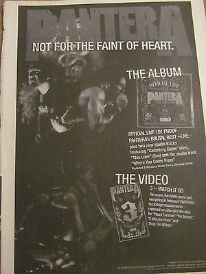 Pantera, Official Live, Full Page Vintage Promotional Ad