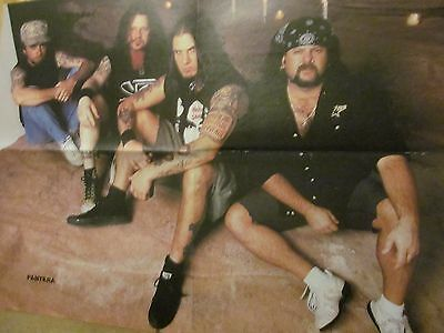 Pantera, Creed, Vintage Double Four Page Foldout Poster