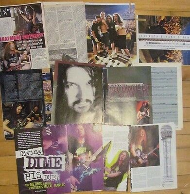 Pantera, Lot of FOUR Three and Four Page Vintage Clippings