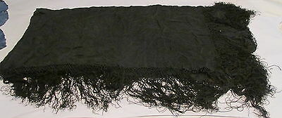 Antique/Vtg Black Shawl~Black Dress W/Lacy Bodice~Yellow Lacy Party Dress~Slip