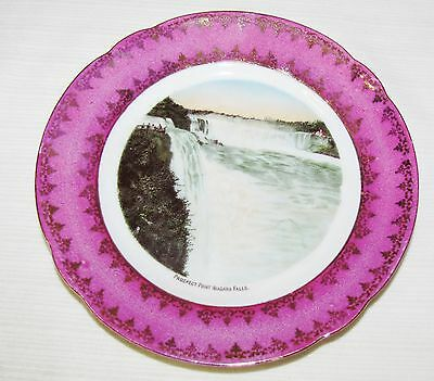 Souvenir Plate Of Niagara Falls, Prospect Point--6 1/2  Inches In Diameter