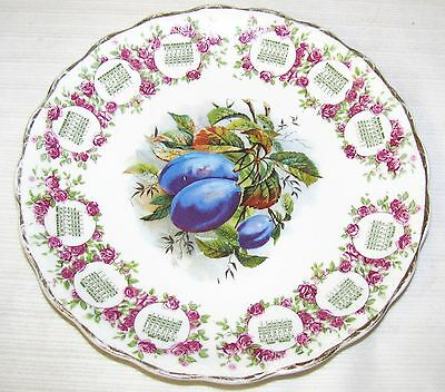 1910 CALENDAR PLATE--WITH PLUMS ON IT--CARNATION McNICOL