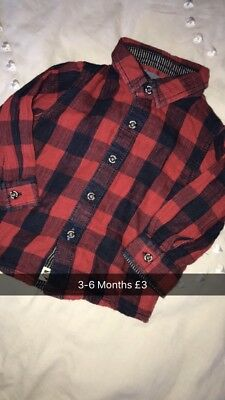 Next Checked Shirt 3-6 Months Red