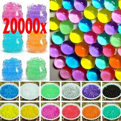 20000 Pcs Water Plant Flower Jelly Crystal Soil Mud Hydro Gel Pearls Beads Balls