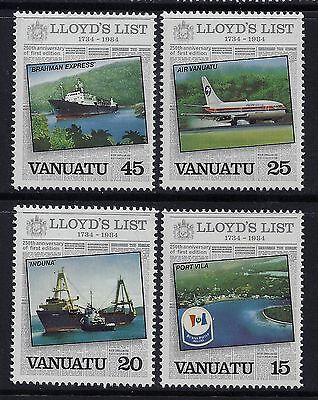 1984 Vanuatu Lloyds List Set Of 4  Fine Mint Mnh/muh