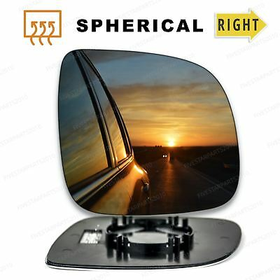 Right driver side heated wing mirror glass for VW Transporter T6 2015-On clip on