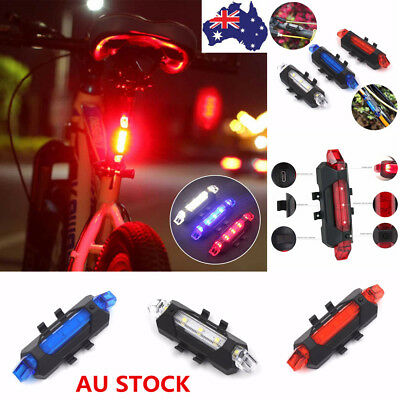Bicycle Rear Tail Light Front Cycling Bike LED Lamp Rechargeable Outdoor USB COB