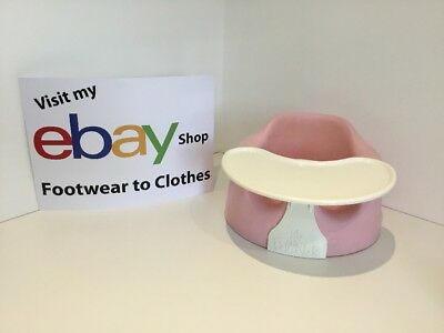 Baby's Pink Bumbo Seat With Bumbo Tray Preowned Vgc