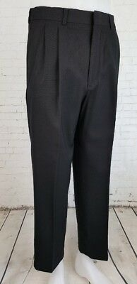Vtg Black Pleated Wool Blend Trousers 70s does 40s / 50s W30 ED34