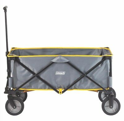 Coleman Camping Gardening Collapsible Steel Frame Camp Wagon with Carry Bag