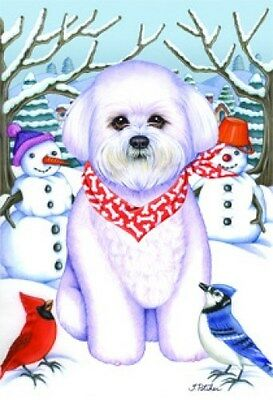 Garden Indoor/Outdoor Winter Flag - Bichon Frise (TP) 610371