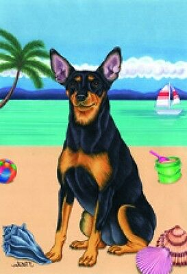 Large Indoor/Outdoor Summer Flag (TP) - Miniature Pinscher Min Pin 69084