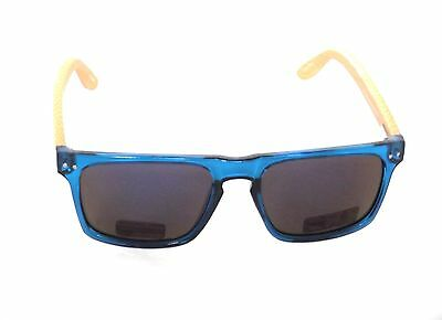 5c312c1a9d SUNGLASSES ECO FRIENDLY Bamboo Blue Planet Design Men Women Polarized Blue  6063X