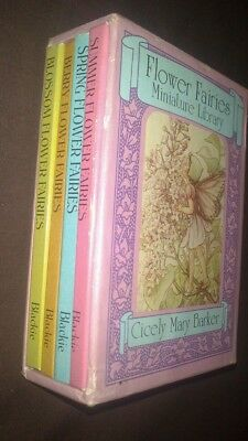 Vintage Flower Fairies miniature Library. Cicely Mary Barker (box set of 4 books
