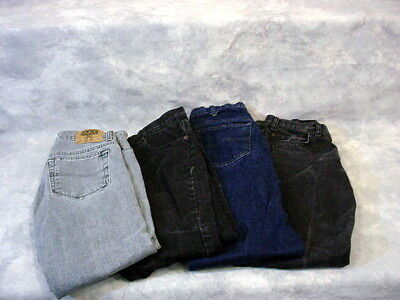 4 pairs of Gap women jeans 1 Blue 1 Grey 2 Black amazing condition size 12