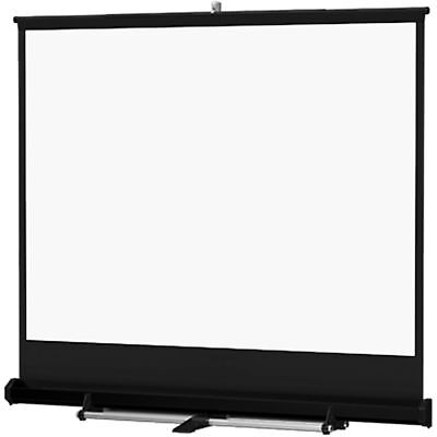 Da-Lite Floor Model C 10' x 10' Black Carpeted Screen for Video Projection